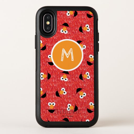 Elmo Fur Face Pattern OtterBox Symmetry iPhone X Case