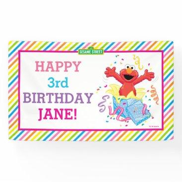 birthday Elmo Girl's Birthday Banner