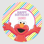 Elmo Girl's Birthday Classic Round Sticker