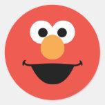 Elmo hace frente a arte pegatina redonda