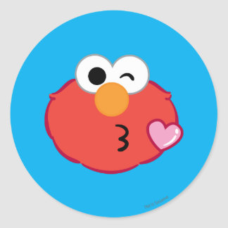 Elmo hace frente a lanzar un beso pegatina redonda