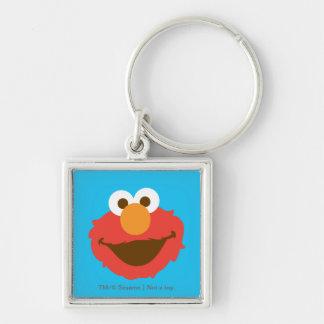Elmo hace frente llavero cuadrado plateado