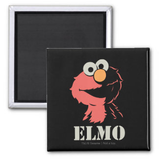 Elmo Half 2 Inch Square Magnet