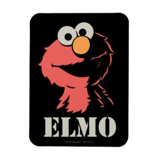 Elmo Half Rectangular Photo Magnet