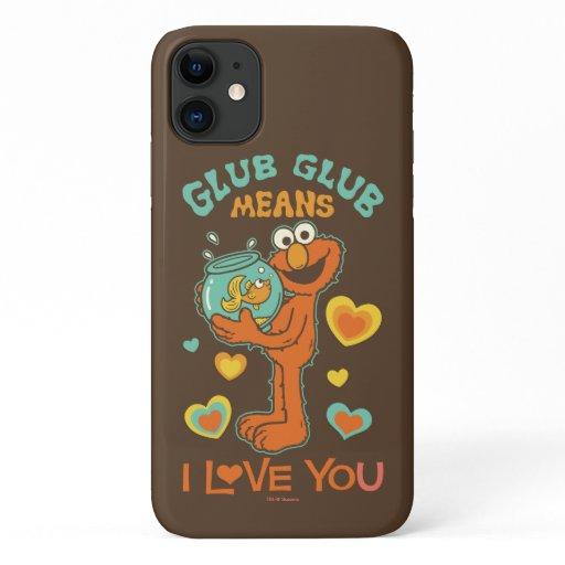Elmo Holding his Pet Goldfish iPhone 11 Case