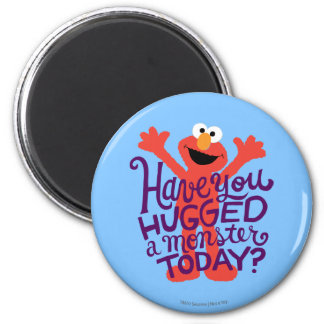 Elmo Hugging 2 Inch Round Magnet