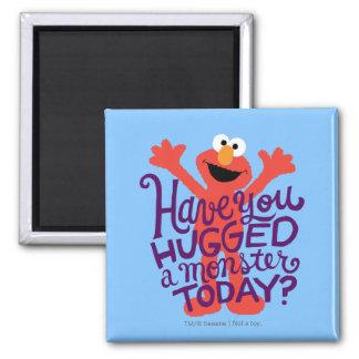 Elmo Hugging 2 Inch Square Magnet