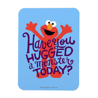 Elmo Hugging Rectangular Photo Magnet