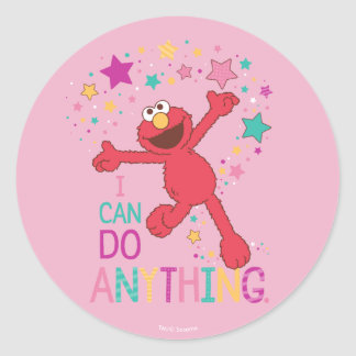 Elmo | I Can Do Anything Classic Round Sticker