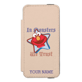 Elmo - In Monsters We Trust | Add Your Name Wallet Case For iPhone SE/5/5s