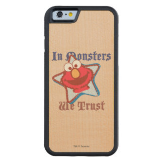 Elmo - In Monsters We Trust Carved® Maple iPhone 6 Bumper Case