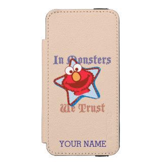Elmo - In Monsters We Trust Incipio Watson™ iPhone 5 Wallet Case