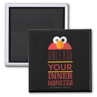 Elmo Inner Monster 2 Inch Square Magnet