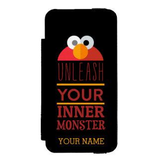 Elmo Inner Monster Wallet Case For iPhone SE/5/5s