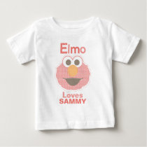 Elmo Loves You | Add Your Name Baby T-Shirt