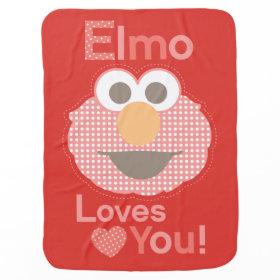 Elmo Loves You Stroller Blanket