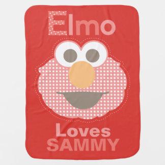 Elmo Loves You Swaddle Blanket