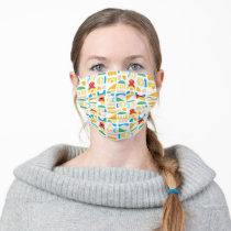 Elmo Minimalist Pattern Adult Cloth Face Mask