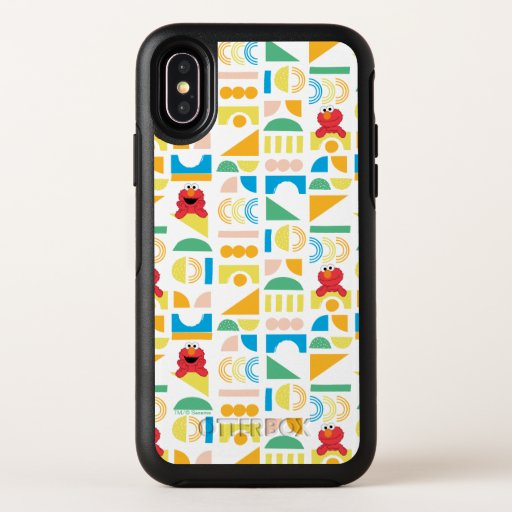 Elmo Minimalist Pattern OtterBox Symmetry iPhone X Case