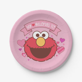 Elmo | My Heart Belongs To Elmo Paper Plate