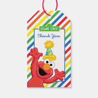 Elmo Neutral Birthday Gift Tags
