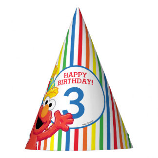 Elmo Neutral Birthday Party Hat