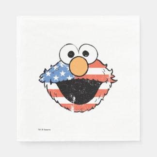 Elmo patriótico - apenado servilleta de papel
