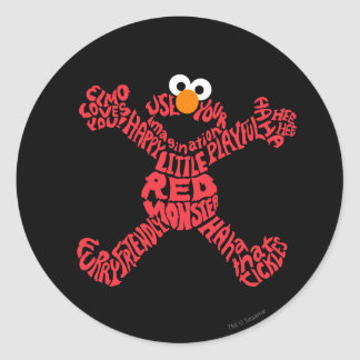 Elmo Pattern Fill Classic Round Sticker