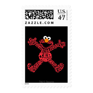 Elmo Pattern Fill Postage