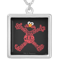 Elmo Pattern Fill Silver Plated Necklace