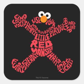 Elmo Pattern Fill Square Sticker