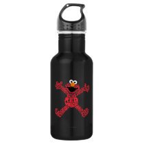 Elmo Pattern Fill Stainless Steel Water Bottle