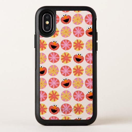 Elmo Pom-Pom Pattern OtterBox Symmetry iPhone X Case