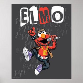 Elmo Rockin' Out Poster