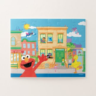 Elmo Sesame Street Scene - Kids Jigsaw Puzzle