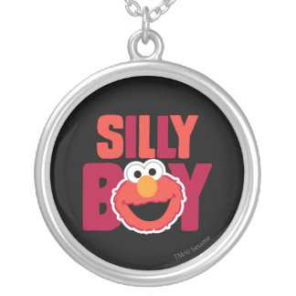 Elmo Silly Silver Plated Necklace