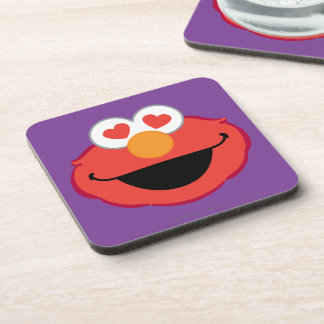 Elmo Smiling Face with Heart-Shaped Eyes Drink Coaster
