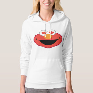 Elmo Smiling Face with Heart-Shaped Eyes Hoodie