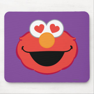 Elmo Smiling Face with Heart-Shaped Eyes Mouse Pad