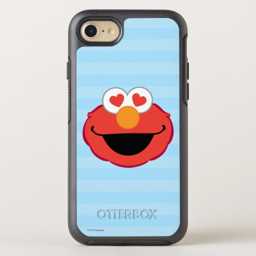Elmo Smiling Face with Heart-Shaped Eyes OtterBox Symmetry iPhone SE/8/7 Case