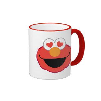 Elmo Smiling Face with Heart-Shaped Eyes Ringer Mug