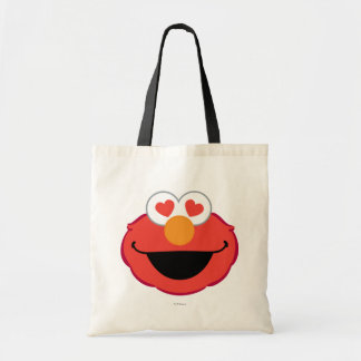 Elmo Smiling Face with Heart-Shaped Eyes Tote Bag