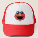 "Elmo  Smiling Face with Sunglasses Trucker Hat<br><div class=""desc"">Express yourself with this Sesame Street Emoji         This item is recommended for ages 13 . &#169;  2014 Sesame Workshop. www.sesamestreet.org</div>"