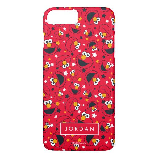 Elmo | So Silly Star Pattern | Add Your Name iPhone 8 Plus/7 Plus Case