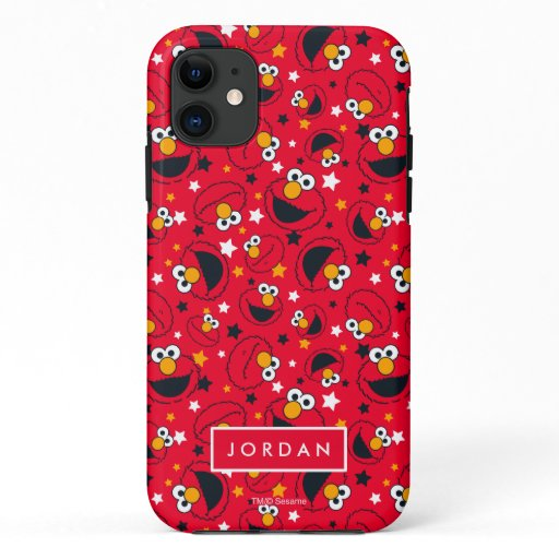 Elmo | So Silly Star Pattern | Add Your Name iPhone 11 Case