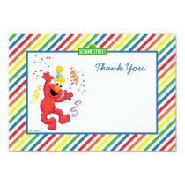 Elmo Striped Birthday Thank You Cards
