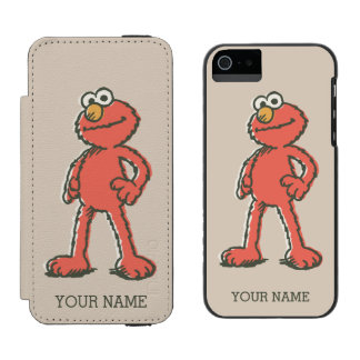 Elmo Vintage Wallet Case For iPhone SE/5/5s