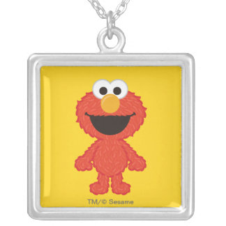 Elmo Wool Style Silver Plated Necklace