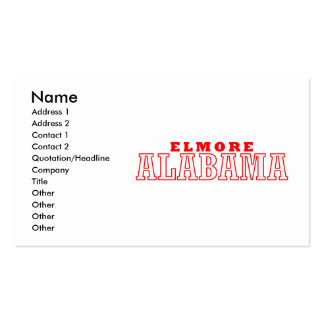 Elmore, Alabama Business Card Templates