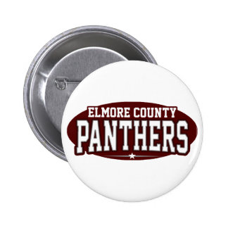 Elmore County High School; Panthers Pinback Buttons